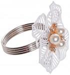 Kroužek na ubrousky - květ s perlami