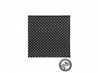 kapesníček pánský do saka - černý s puntíky