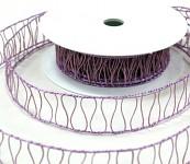 Stuha Makrama - sv.fialová- 3cm/10m