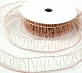 Stuha Makrama - pudrově růžová - 3cm/10m
