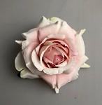 Hlavičky růží  lux- krémovo-růžové - 12cm