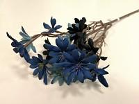 Větvička s drobnými květy 55cm - modrá