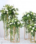 Stojan zlatý kvádr na květiny - 50 cm - půjčovna