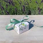 Krabička na cukrovinky hranatá se stuhou - anemonky - mini