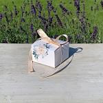 Krabička na cukrovinky hranatá se stuhou - čajová růže - mini