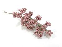 Bobulky drobné perleťově měděné - zápich - 17 cm