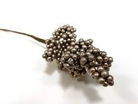 Bobulky drobné perleťově sv.zlaté - zápich - 17 cm