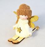 Děti zimy bílé zasněžené 10 cm - 3 pozice - 1 ks