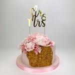 Zápich do dortu - MR & MRS zlatý - 1ks