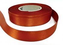 Saténová stuha oboulící - teracota - 15 mm - 1m