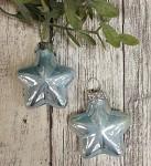 Baňka hvězdička mini - 4 cm - sv.modrá