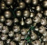 Baňky na drátku zeleno-zlaté 20 mm - matné