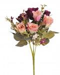 Kytice podzimní růže mini -  růžovo - lososová