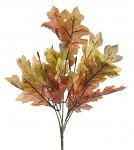 Větev podzimní dub - hnědo-zelený