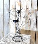 Anděl drátěný na svíčku - 36 cm