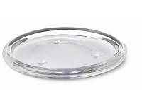 Skleněná zrcadlová podložka pod svíčky - zlatá -  10 cm