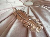 Peříčko I.- kovové rosegold - závěs