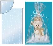 Celofánový sáček - průhledný s hvězdami na lince