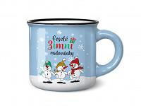 Mini vánoční hrníček pro milovníky espressa - zimní radovánky
