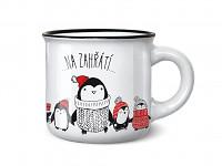 Mini vánoční hrníček pro milovníky espressa - milé zahřátí - tučňák