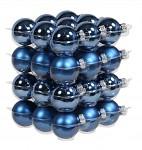 Baňka sklo závěs - 40 mm - tm.modré