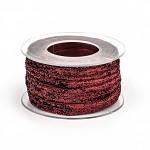 Stuha textilní vínová perleť - 1m
