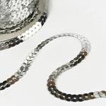 Flitry lomené v metráži - stříbrné - 1m