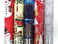 Balicí vánoční papír - 70cm x 2m - modrý vánoční