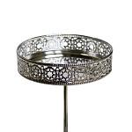 Bodec stříbrný LUX pod svíčky - průměr 75 mm