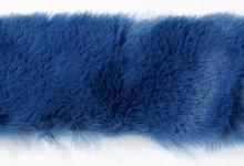 Kožešinový pás 4 cm - tm.modrý - 1,5 m
