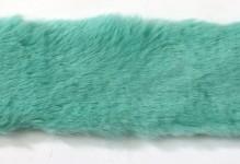 Kožešinový pás 4 cm - zelenomodrý - 1,5 m