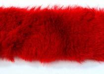 Kožešinový pás 4 cm - červený - 1,5 m