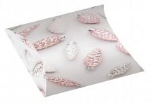 Dárková vánoční krabička - růžové baňky