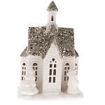 Vánoční domeček keramický se Santou - svítící