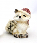 Liška zimní zasněžená s čepicí