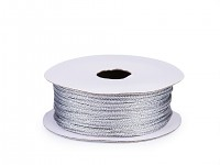 Lurexová šňůrka 1 mm- stříbrná - 10 m