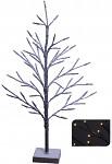 Strom černý frost 60 cm - svítící  na baterie