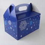 Krabička na vánoční cukroví s ouškem - 20x13x11 cm -  vločky