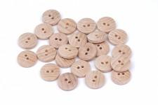 Dřevěný knoflík přírodní - 15 mm