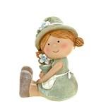 Dívka zahradnice sedící - mátová