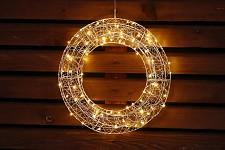 Světelný 120 LED věnec - 50 cm