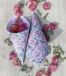 Papírový kornout na plátky růží - 8 ks - jarní kytice