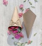 Papírový kornout na plátky růží - 8 ks - kraftový