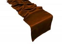 Saténová štola 270 cm - tmavě hnědá