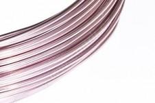 Hliníkový dekorační drátek 2 mm/5m - růžový