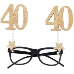 Párty brýle - glitr - 40.narozeniny
