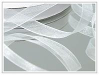 Šifonová stuha bílá 6 mm - 22,5 m