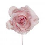 Party čelenka halloween - závoj červené růže