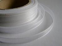 Šifonová stuha lemovaná  - 6 mm - bílá - 1m