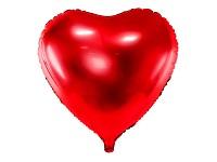 Foliový balonek srdce červené - 61 cm - létající